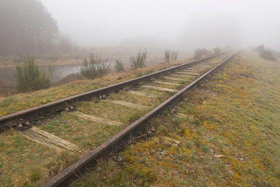Oude spoorlijn Borkense Baan€ nabij de Duitse grens in de g
