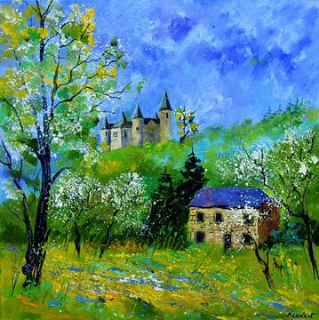 Chateau de Veves au printemps von pol ledent