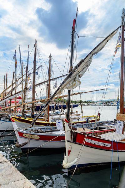 Traditionele boten in de haven van Sanary-sur-Mer, Frankrijk van 7Horses Photography