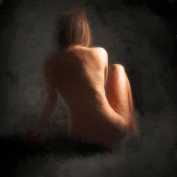 Nackt sitzen von Arjen Roos