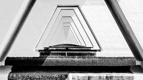 Kunstzinnig detail van de Zeelandbrug, Zeeland, Nederland