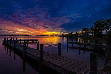 Sonnenuntergang Belterwiede von Jan Willem Oldenbeuving