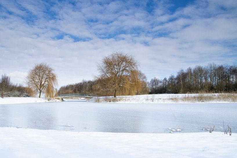 Winterlandschap in de polder van Visueelconcept