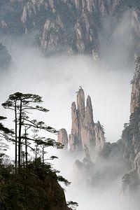 Bijzondere rotsformaties in Huangshan, China van