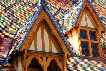 Mosaike, Hospices de Beaune, Frankreich von Inge Hogenbijl