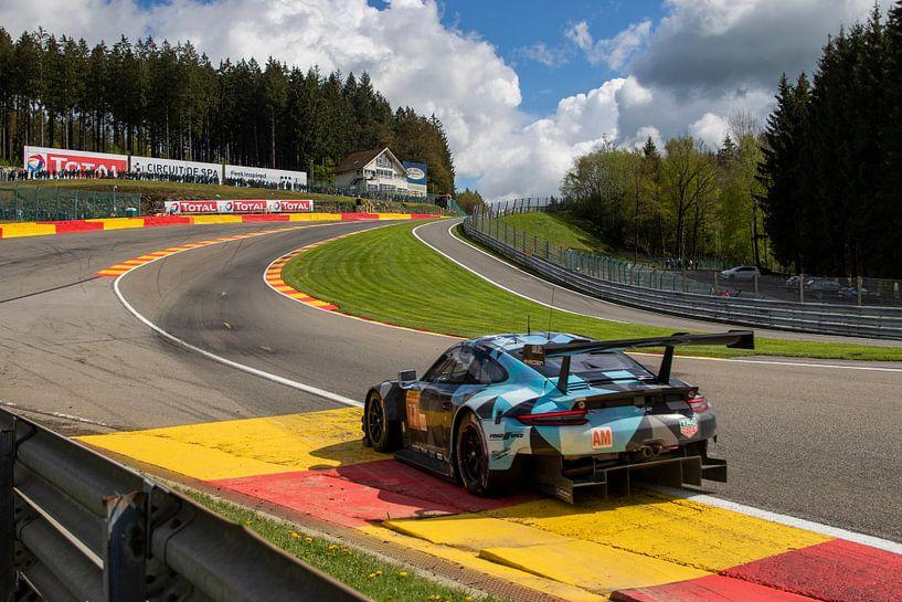 Total 6h of Spa, Dempsey-Proton Porsche 911 RSR Eau Rouge sur Rick Kiewiet