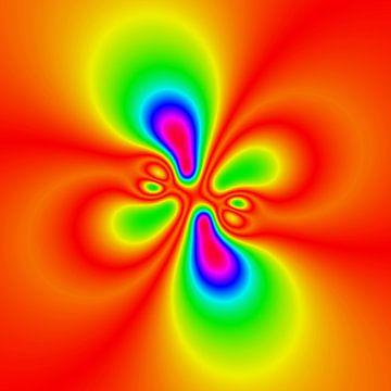 Abstract neon bloem van Maurice Dawson