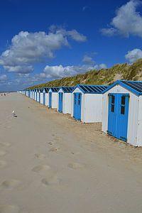 Strandhuisjes in De Koog op Texel