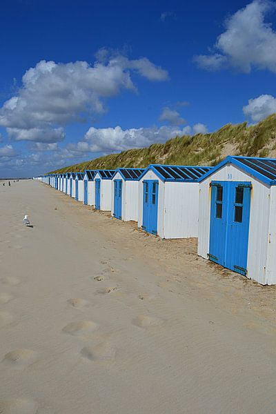 Strandhuisjes in De Koog op Texel van JTravel