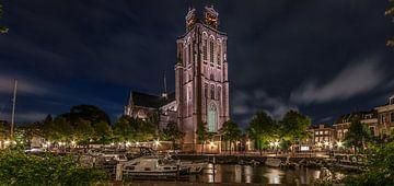 Große Kirche bei Nacht in Dordrecht von Alvin Aarnoutse