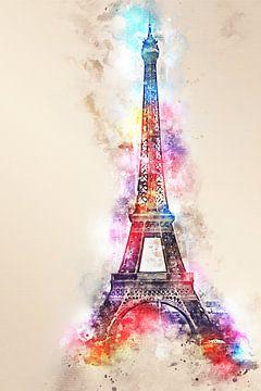 Eiffeltoren - Parijs (tekstloos) van Sharon Harthoorn