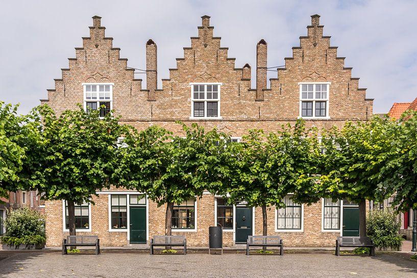 Typisch Hollandse huisjes van Adri Vollenhouw