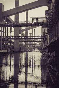 Oude fabriek reflectie