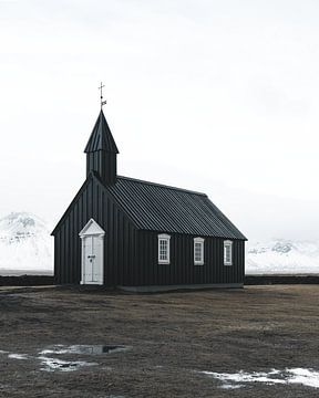 Église noire en Islande (Búðakirkja) sur Michiel Dros