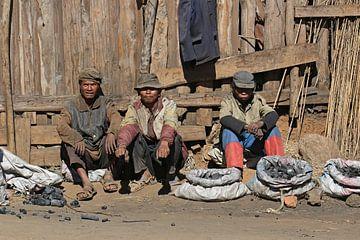 Houtskoolverkopers in Madagaskar van Antwan Janssen