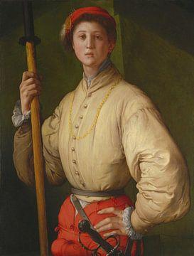 Porträt eines Hellebardiers, Jacopo da Pontormo