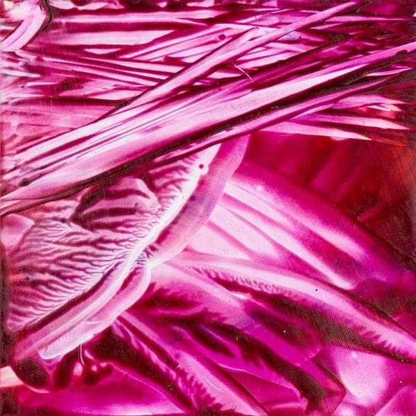 Encaustic Art roze wit van Erica de Winter