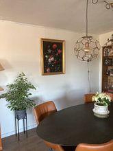 Kundenfoto: Blumen in einer Glasvase, Jan Davidsz de Heem, auf leinwand