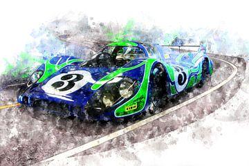 Porsche 917 Hippie Car von Theodor Decker