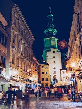 Bratislava - Michaelertor bei Nacht von Alexander Voss