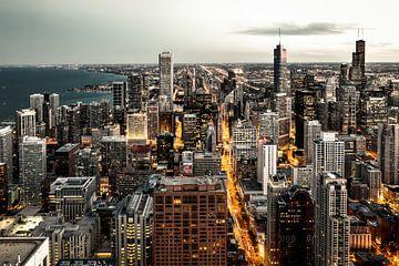 Urban Shot Chicago Skyline van Munich Art Prints