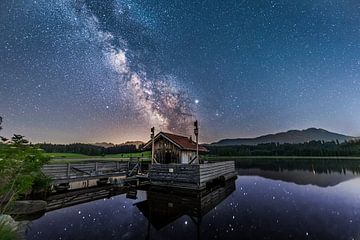 Melkweg boven de Attlesee van Dennis Eckert