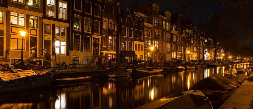 Nachtelijk Amsterdam - 1 van Damien Franscoise