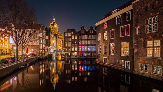 Amsterdam reflectie van Edwin Mooijaart
