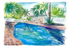 Magic Blue Pool im abgelegenen Key West Florida