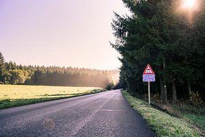 Mountain roads sur Nick van Dijk