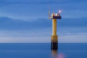 Avondopname Noordzee van Jan Nijeboer