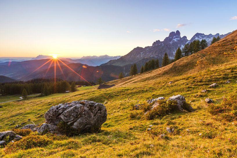 Zonsondergang op de alm van Coen Weesjes