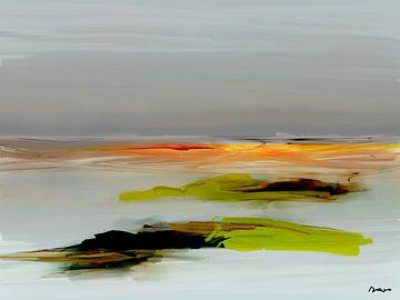 Abstraktion, Landschaft Nordsee. von SydWyn Art