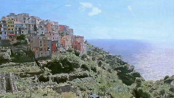 Cinque Terre - Corniglia - Italien von Schildersatelier van der Ven