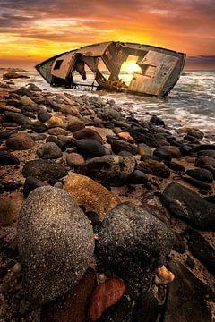 Sonnenuntergang am Schiffswrack