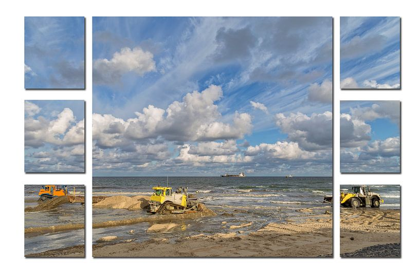 7-luik van een kustversterkingsproject in Noord-Holland van Miranda van Hulst