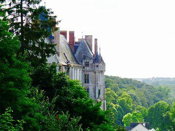 Château français dans le soleil du soir sur Jan Radstake