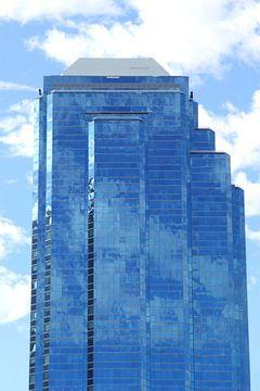 Wolkenkrabber en weerspiegeling,  Perth