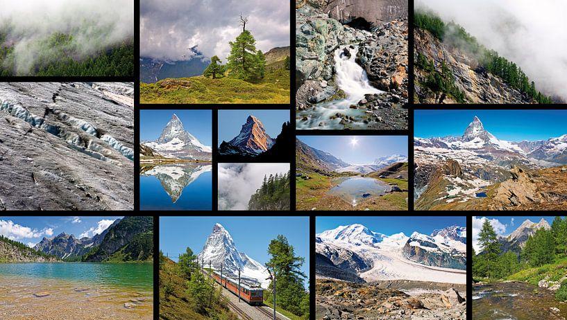 Collage Alpen van Anton de Zeeuw