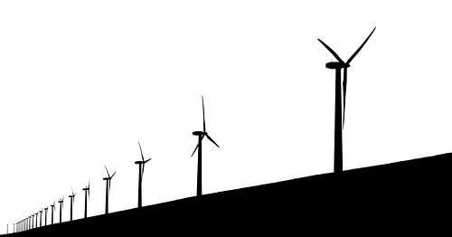 Abstracte windmolens
