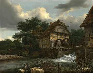Jacob van Ruisdael - Twee Watermolens van