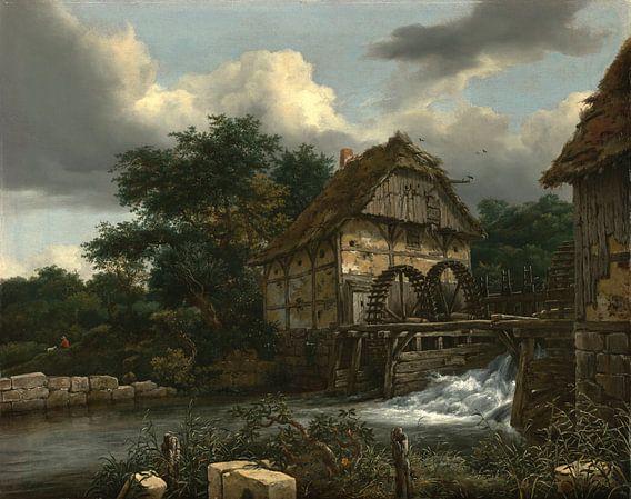 Jacob van Ruisdael - Twee Watermolens van 1000 Schilderijen