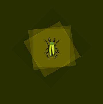 insect illustratie tekening op groen van sarp demirel