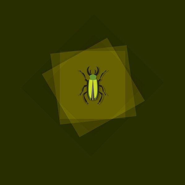 Insekten-Illustrationszeichnung auf Grün von sarp demirel