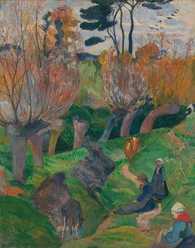 Bretagne landschap met koeien, Paul Gauguin