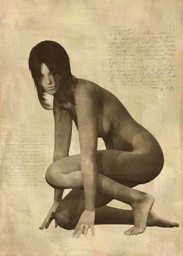 Erotik nackt - Nackte Frau kniend von Jan Keteleer