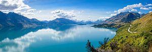 Route langs Lake Hawea, Nieuw Zeeland