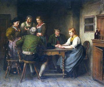 Het nieuws, FRANZ VON DEFREGGER, 1900 van Atelier Liesjes
