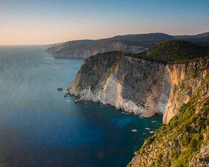 De kustlijn van het eiland Zakynthos van
