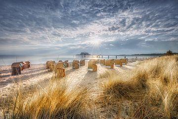 Dünen und Strandkörbe am Timmendoerfer Strand im Sommer von Voss Fine Art Photography
